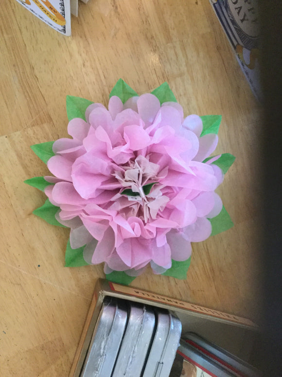 X small paper flower open