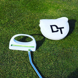 DT Golf Putter Training Aid with Built in surface level - White Golf Putter