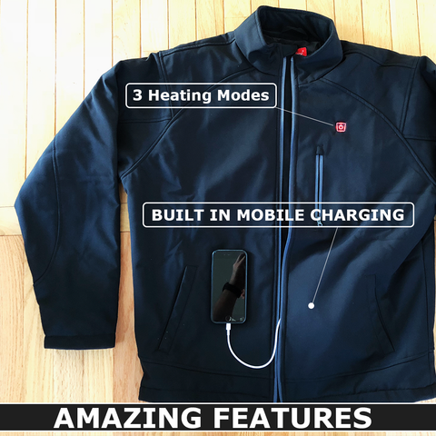facbbb538 DTouch - Electric Heated Jacket with built Mobile Charging for ...