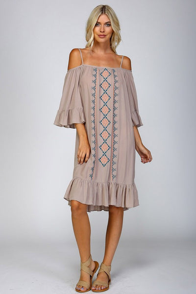 Taupe Tunic Dress