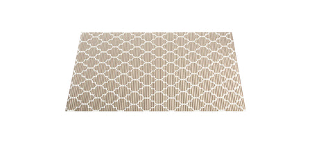 NEW! The Best Ribbed Foam Food Mat - Brown Trellis