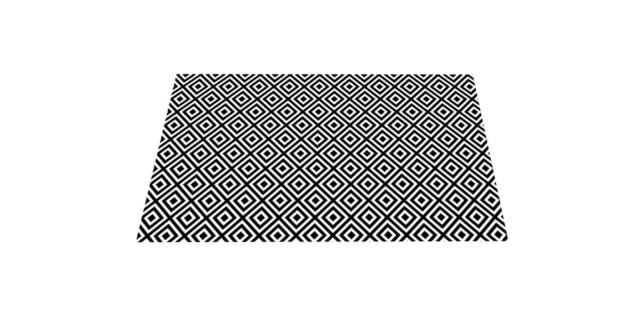 NEW! The Best Ribbed Foam Food Mat - Black & White Geometric