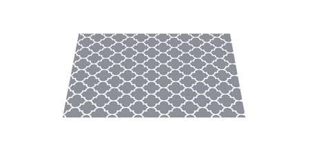 NEW! The Best Ribbed Foam Food Mat - Grey Trellis