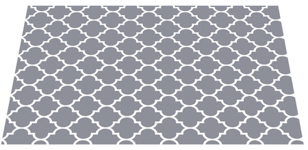 NEW! The Original Ribbed Foam Litter Mat – Grey Trellis