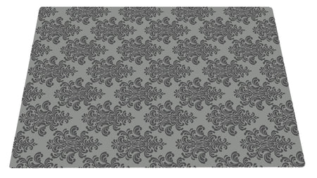 Deluxe Textured Microfiber Large Litter Box Mat - Grey Filigree