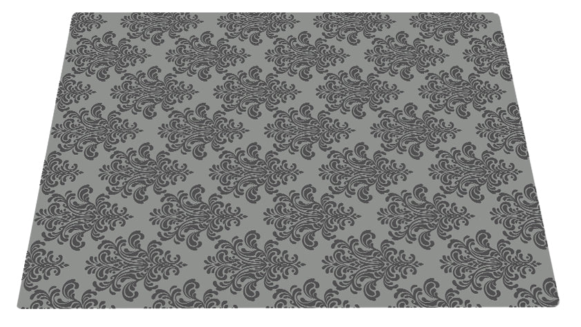 Deluxe Textured Microfiber Large Mat - Grey Filligree