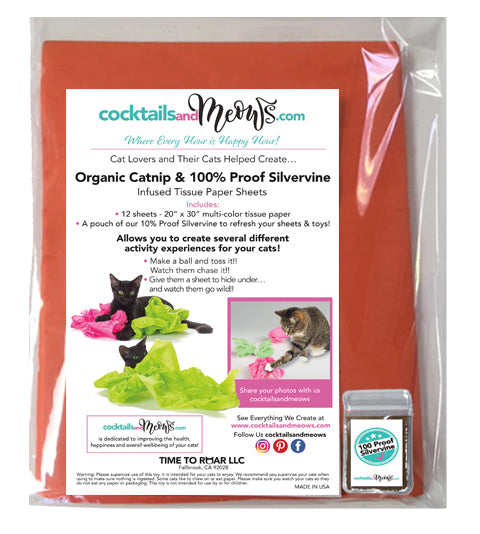 Halloween Organic Catnip & Silvervine Infused Paper Sheets