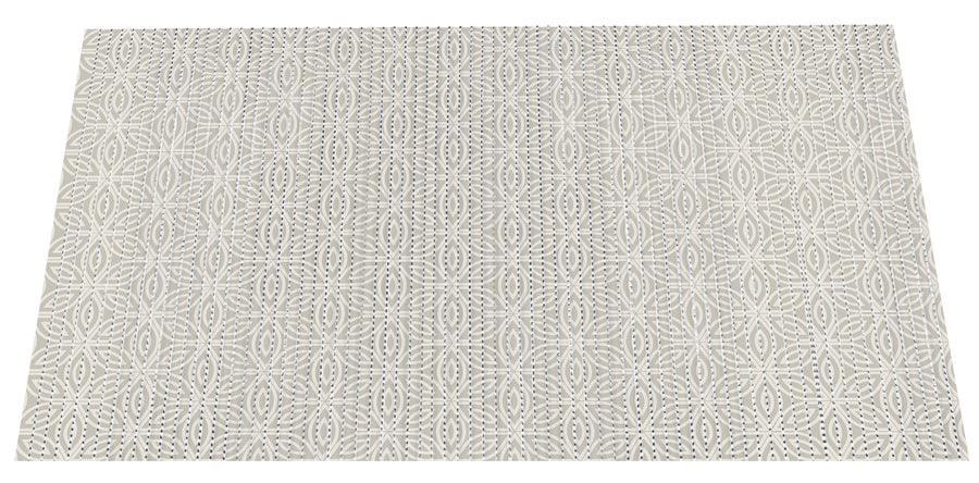NEW! The Original Ribbed Foam Litter Mat - Taupe Medallion