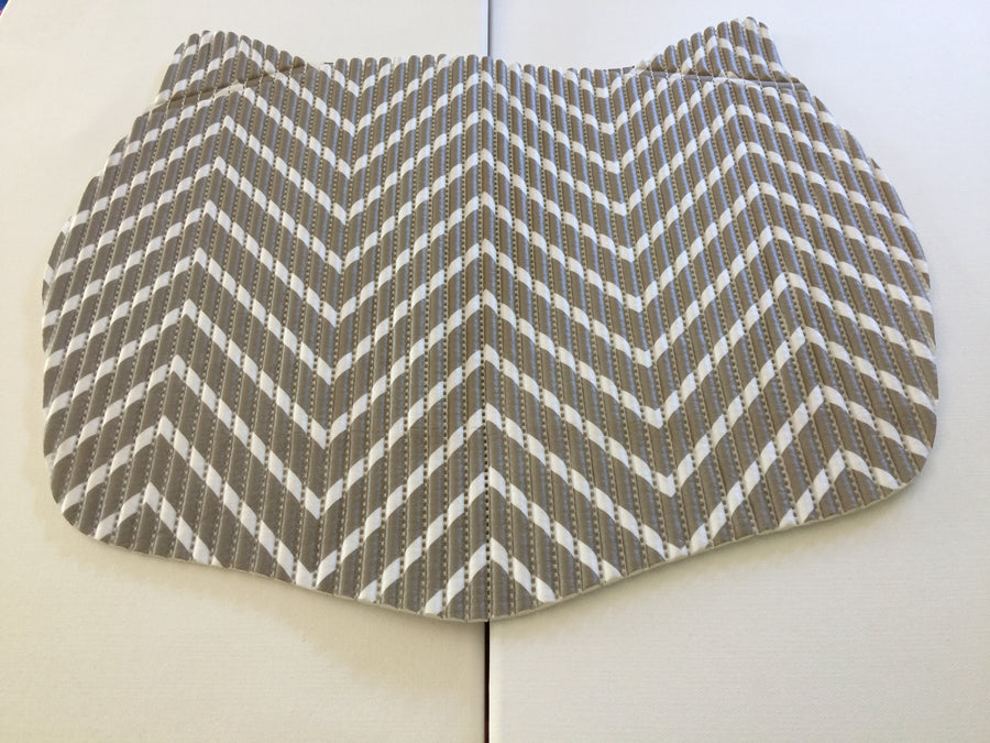 SALE! Small Space Mat - Taupe Chevron