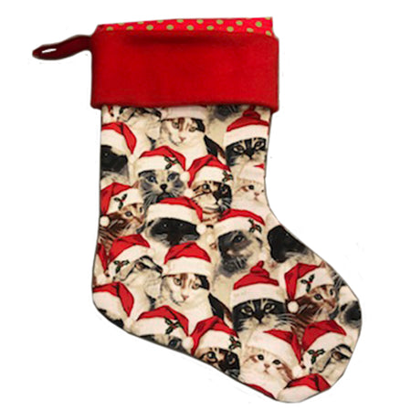 Limited Edition Red Cats Holiday Stocking