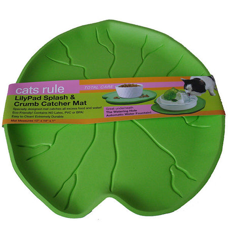 Lilypad Splash & Crumb Catcher Mat - Green