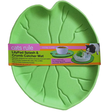 Leaf Cat Water Fountain Mat - Green