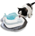 Leaf Cat Water Fountain Mat - Stone