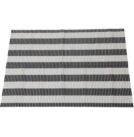 Perfect Litter Mat - Black & White Stripe