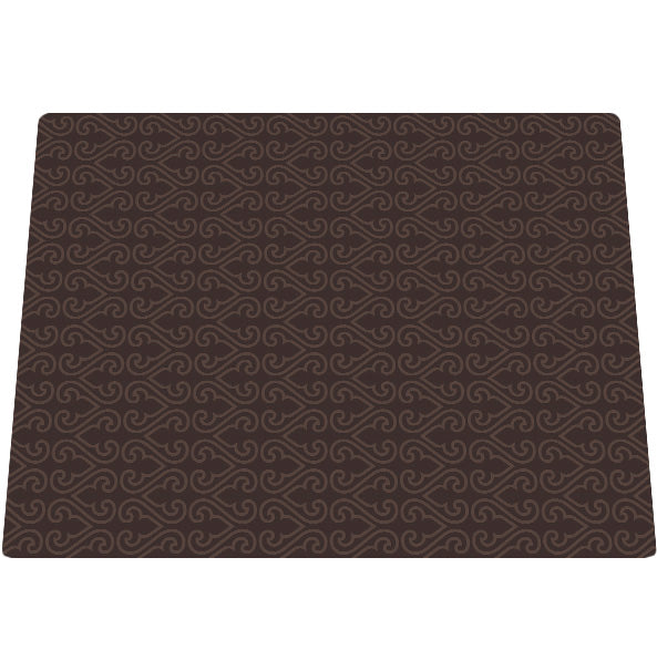 Deluxe Textured Microfiber Large Mat - Brown Filligree