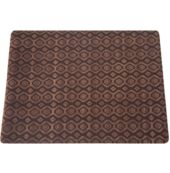 Deluxe Textured Microfiber Large Mat - Chestnut Brown