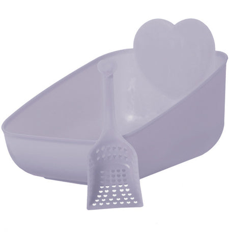 Priscilla's Litter Pan and Scoop Set Periwinkle - (NEW Price Reflects XL Shipping Costs)