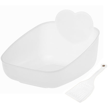 Priscilla's Litter Pan and Scoop Set - Snow (NEW Price Reflects XL Shipping Costs)