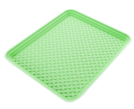 Bamboo Pattern Splash & Crumb Catcher Mat - Lime Green