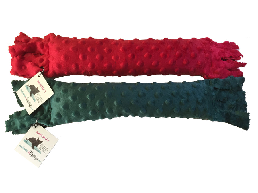 Value Set of 2 Catnip & Silvervine Kickers Red & Green Bubble Texture