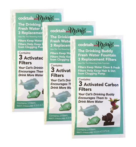 The Drinking Buddy Automatic Fountain 3-pack Filter Replacement - Value Pack of 3