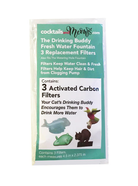 The Drinking Buddy Automatic Cat Water Fountain 3-pack Filter Replacement