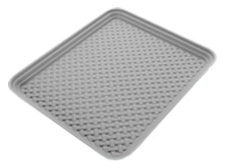 Bamboo Pattern Splash & Crumb Catcher Mat - Stone
