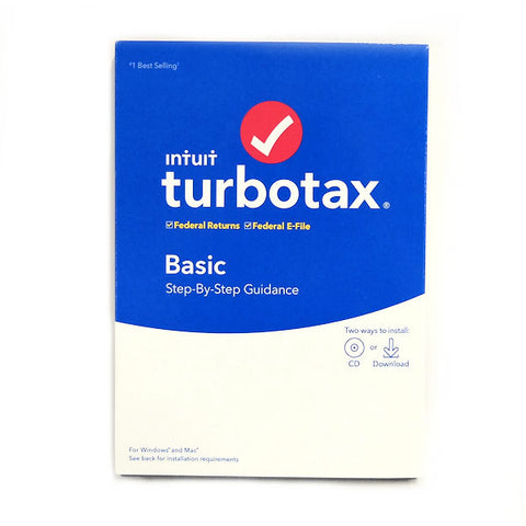 TurboTax 2019, Basic Federal Efile, for PC/Mac -
