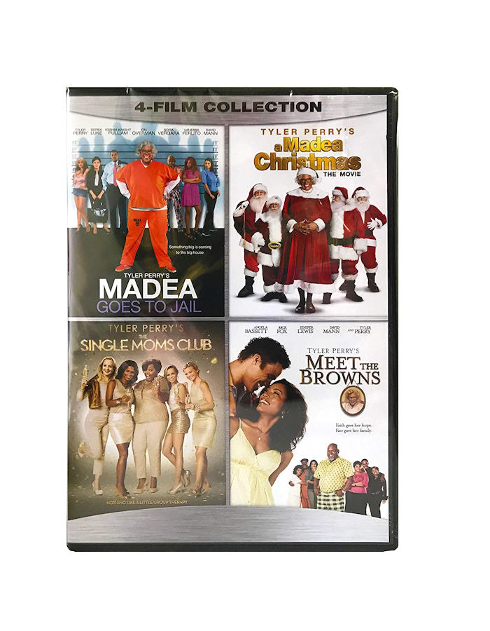 4FilmCollection-Madea:Goes to Jail/Christmas/Single Moms Club/Meet the BrownsDVD -
