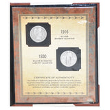 American Coin Treasure Last Year of Issue Silver Quarter Collection -