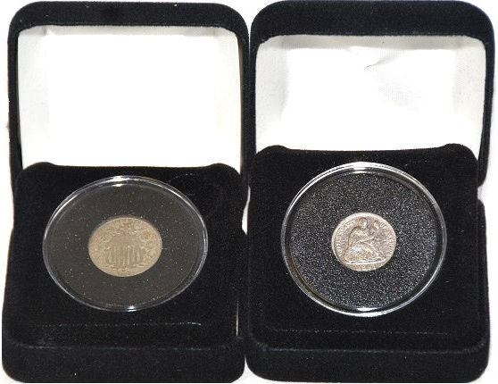 First Commemorative Mint Shield Nickel & Seated Liberty -