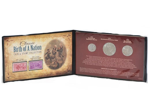 U.S. Mint Coins Classic Birth of A Nation Coin & Stamp Collection -