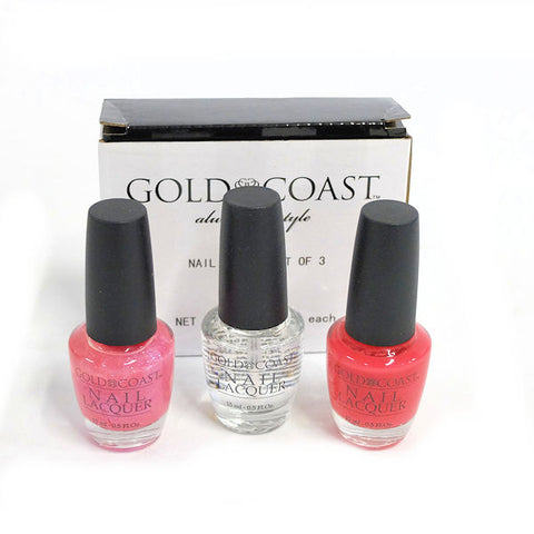 Gold Coast Nail Polish, Set of 3 - New