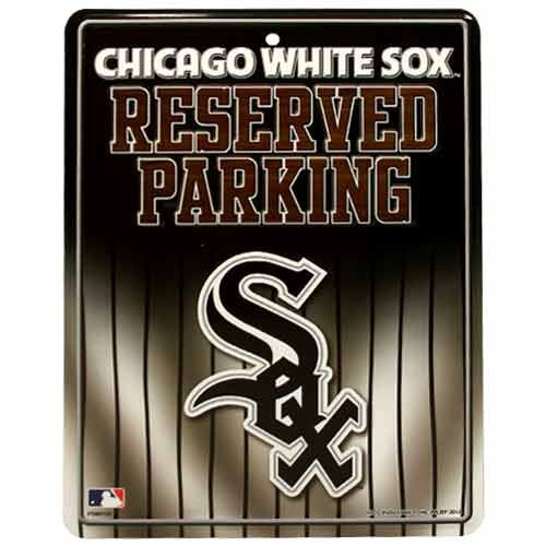 Rico MLB Chicago White Sox Hi-Res Metal Parking Sign -
