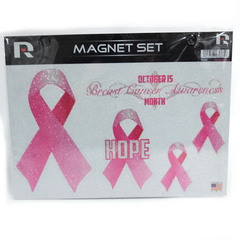 Breast Cancer Awareness Glitter Magnetic Set - New