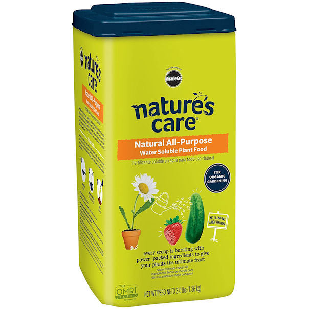 Nature's Care Natural All-Purpose Water Soluble Plant Food, 3 lbs - 6 Pack -