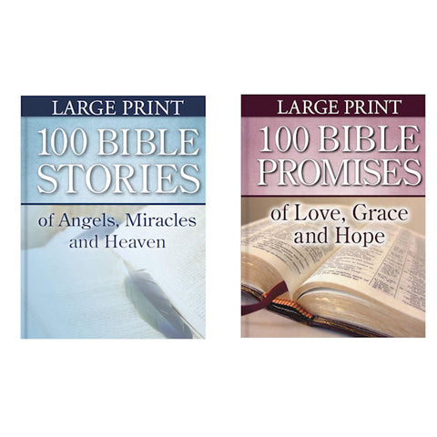 100 Bible Promises of Love.../100 Bible Stories of Angels, Miracles..- 2 Books - Brand New
