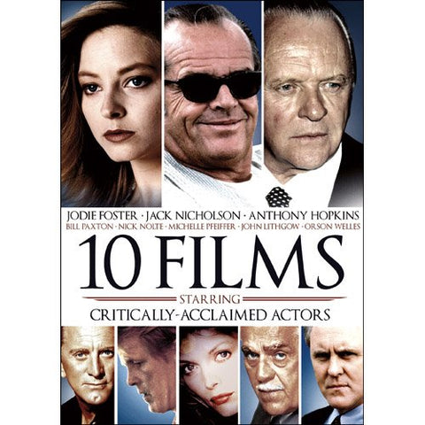 10-Films Featuring Critically Acclaimed Actors DVD Ben Kingsley, Jack Nicholson - Brand New