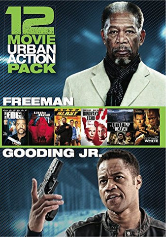 12 Film Urban Action Pack DVD Box Set Morgan Freeman, Cuba Gooding Jr. - Brand New
