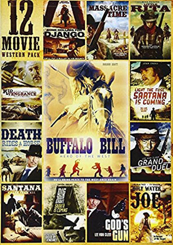 12-Movie Western: Kid Vengeance/Massacre Time Little Rita and More! DVD Pack - Brand New