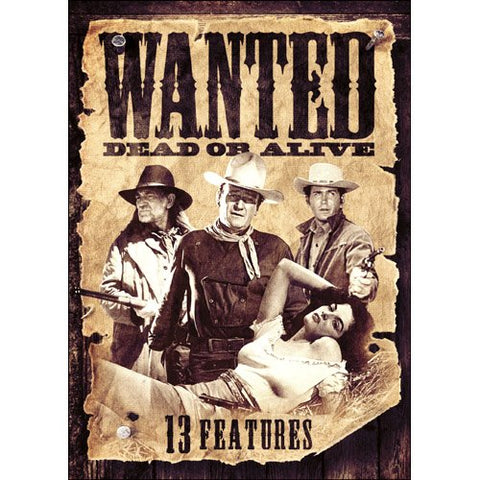 13 Westerns: Wanted Dead Or Alive DVD Willie Nelson, John Wayne - Brand New