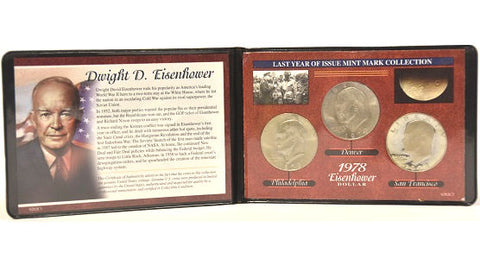 American Coin Treasure Philadelphia, Denver & San Francisco Eisenhower Dollar -