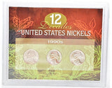 American Coin Treasure 12 Decades of United States 1990S Nickels -