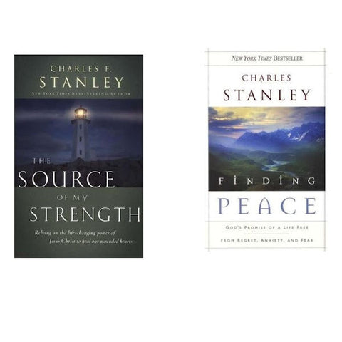 Charles F. Stanley; Finding Peace/The Source of My Strength Paperback (2-Books) - Brand New