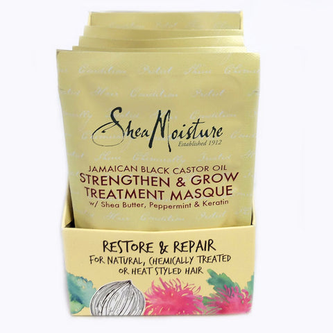Shea Moisture Jamaican Black Castor Oil Strengthen & Restore Treatment, 12-Pack -