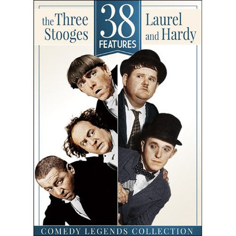 38 Features: The Three Stooges & Laurel and Hardy DVD - Brand New
