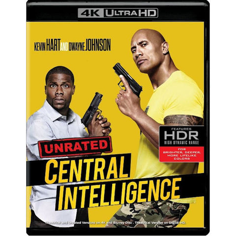 Central Intelligence 4K Ultra HD + Blu-ray Kevin Hart - Brand New