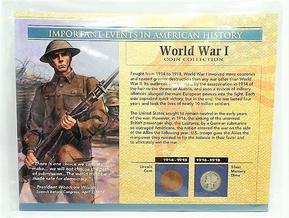 Important Events in American History War I Coin Collection -