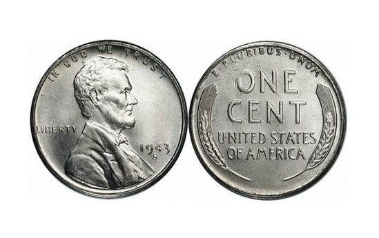 U.S. Coins World War II Lincoln Steel Cent & Silver Mercury Dime -