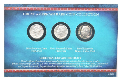 American Coin Treasure Great American Rare Coin Dime Collection 1916-1964 -